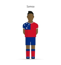Samoa football player soccer uniform vector