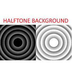 set of monochrome halftone backgrounds from the vector image