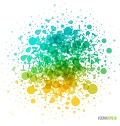 summer in abstract style Dotted splash of vector image vector image