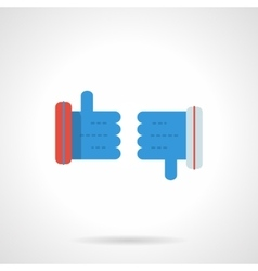 Thumb up and thumb down flat color icon vector image