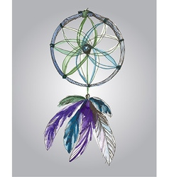 Watercolor dream catcher vector