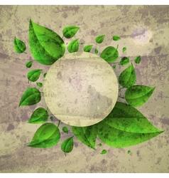 Floral Leaves frame Background vector image