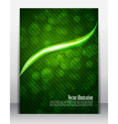 Bright green poster vector
