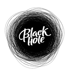 Round scribble frame with Black Hole text vector image