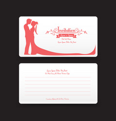 002 invitation wedding card template with vector