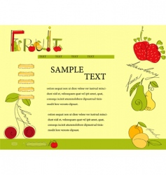 website template with fruit vector image