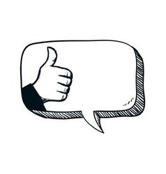 Thumb up like vector