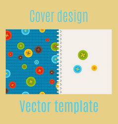 Cover design with colorful buttons pattern vector
