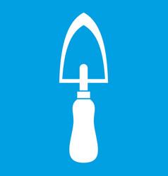 Garden trowel icon white vector