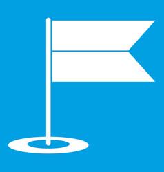 locator flag icon white vector image