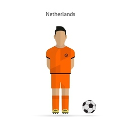 National football player netherlands soccer team vector