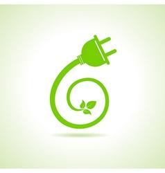 Eco electric plug icon vector image