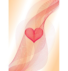 Sweet heart wavy card vector image