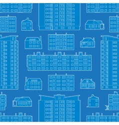 Seamless pattern with blueprint of dwelling vector