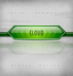 Cloud Button vector image