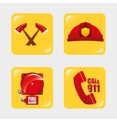 Firefighter tools vector