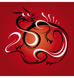 abstract new year dragon vector image