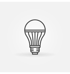 LED lightbulb icon vector image