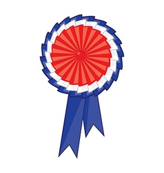 Award ribbon icon vector