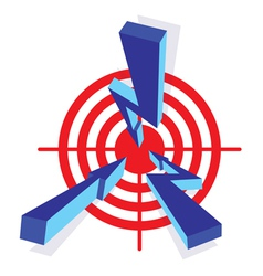 arrows to target vector image
