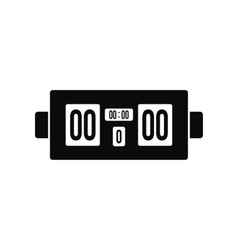 Scoreboard black simple icon vector