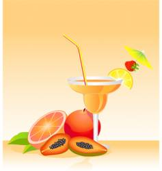 Tropical liqueur vector