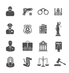 Crime and Punishment Icons vector image