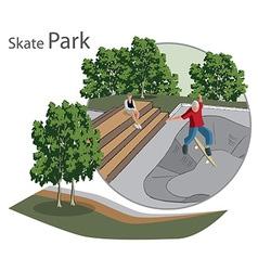 Skate park sketch vector