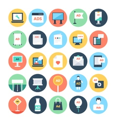 Advertising and Media Icons 4 vector image