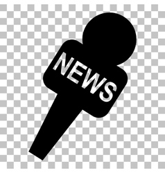 Tv news microphone sign  flat style vector