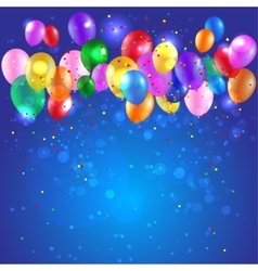Background with color balloons vector image