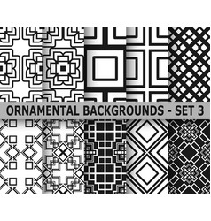 abstract art deco geometric seamless patterns vector image