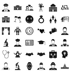 Applause icons set simple style vector