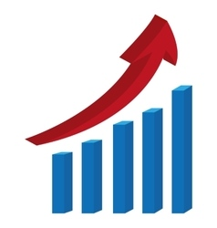 arrow up growth icon vector image vector image