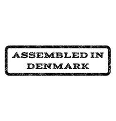 Assembled in denmark watermark stamp vector