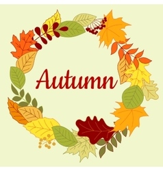 Autumnal colorful border or frame vector