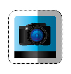 Black studio professional camera icon vector