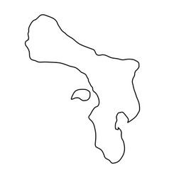 bonaire map of black contour curves on white vector image