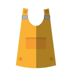 Cartoon vest uniform worker protective shadow vector