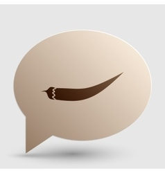 Chilli pepper sign brown gradient icon on bubble vector