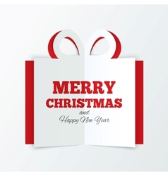 Christmas box cut the paper Cutout paper gift box vector image