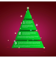 Christmas tree green tape infographics vector image vector image