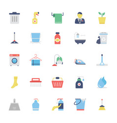 Cleaning colored icons 1 vector