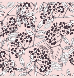 creeper berries seamless pattern vector image vector image