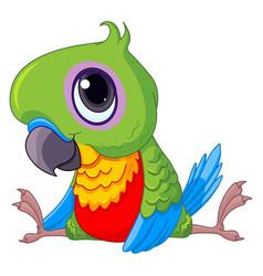 Cute baby parrot vector