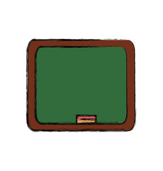 cute blackboard cartoon vector image vector image