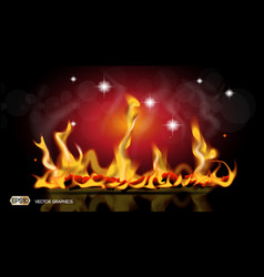 digital abstract hot fire flames background vector image