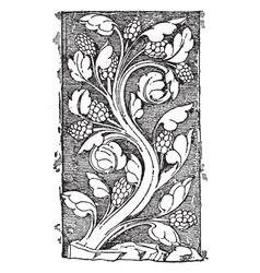Early gothic ornament vine was a design found in vector