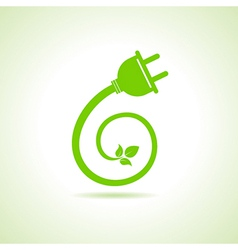 Eco electric plug icon vector image