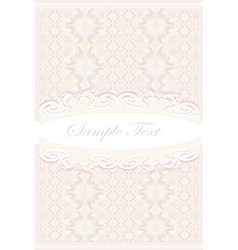elegant abstract vintage frame invitation card vector image